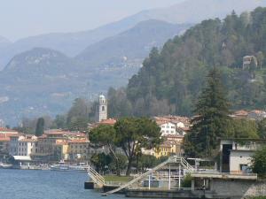 Bellagio's town center from Villa Melzi